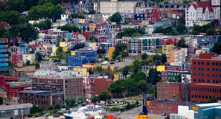 Saint John- Jelly Bean Row & Harbour View