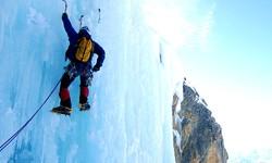 Ice Climbing in Yellowstone
